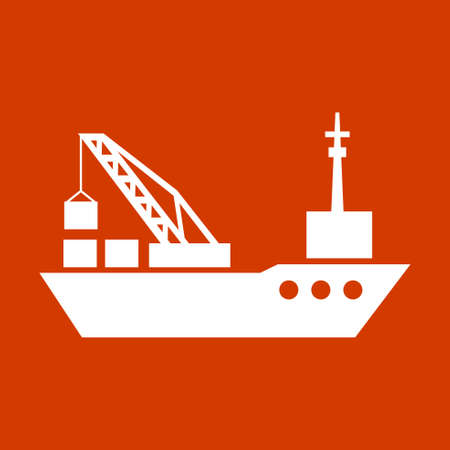 commercial tree service: tanker cargo ship with containers
