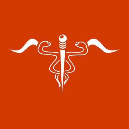 esculapio: icono del caduceo
