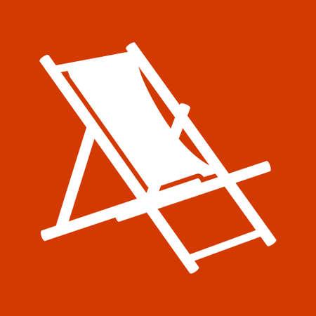 chaise longue: beach chair icon - beach chaise longue