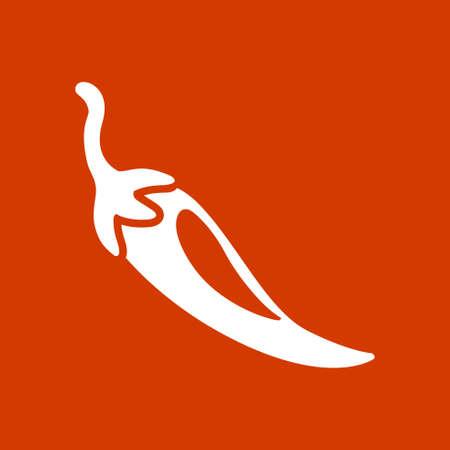 chili pepper: chili pepper icon Illustration