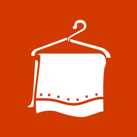 clothing rack: towel hanger icon