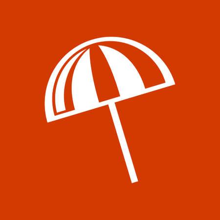 reclining: beach umbrella