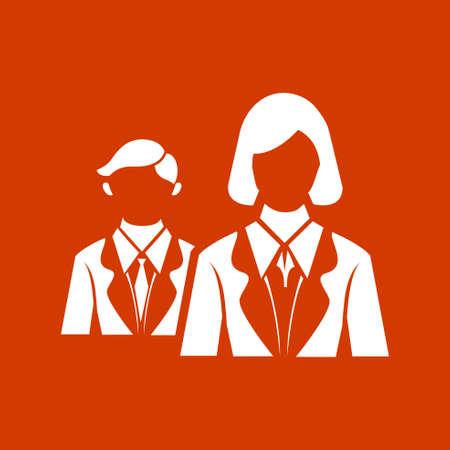 business team: business team  icon Illustration