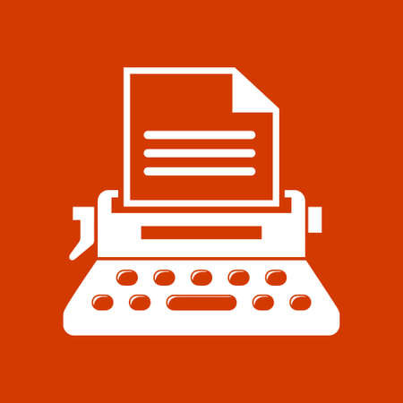 secretarial: write secretarial machine icon