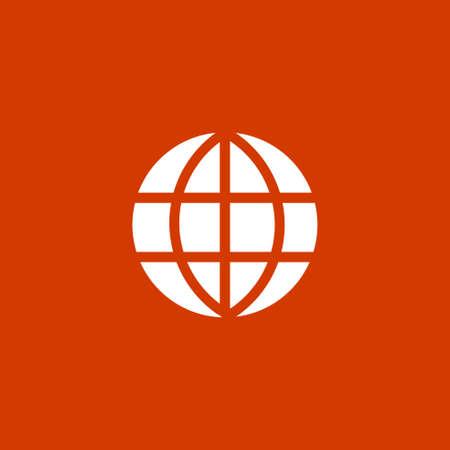 Globe icône Banque d'images - 53376284