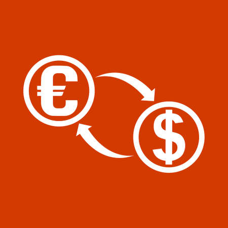 L'échange d'argent icône Banque d'images - 53376410