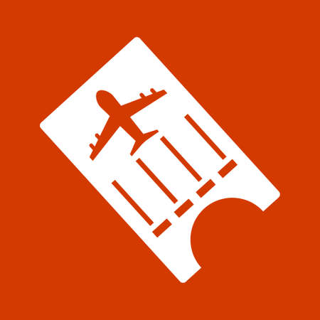 illustration of flight ticket with airplane