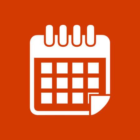 Bouton de calendrier Banque d'images - 53376412