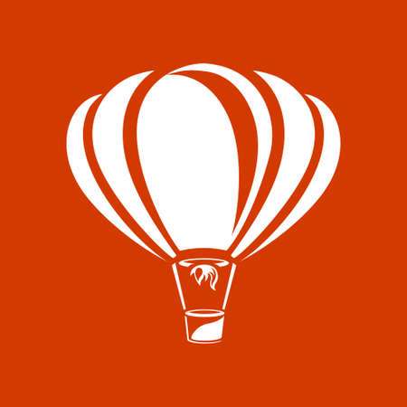Ballon à air vecteur, icône Banque d'images - 53376415