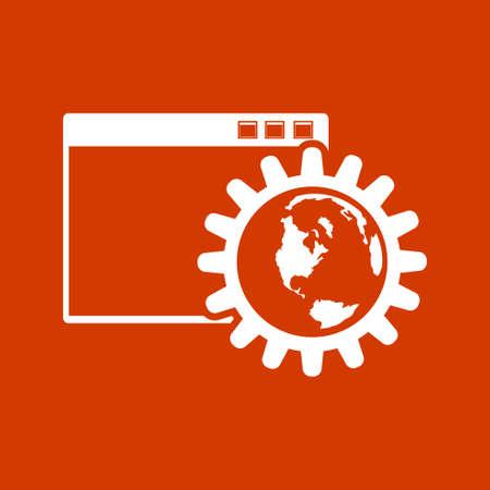 Paramètres Web icône Banque d'images - 53376423