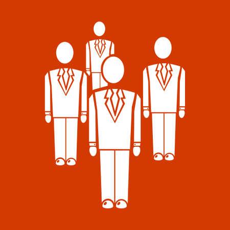 Groupe de personnes icon Banque d'images - 53376450