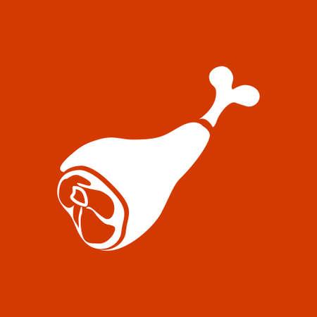 Bouton de la viande Banque d'images - 53376452