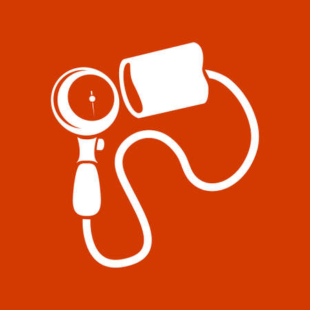 Blood  Pressure equipment  icon Иллюстрация