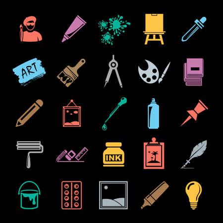 Art icons set Vector illustration.