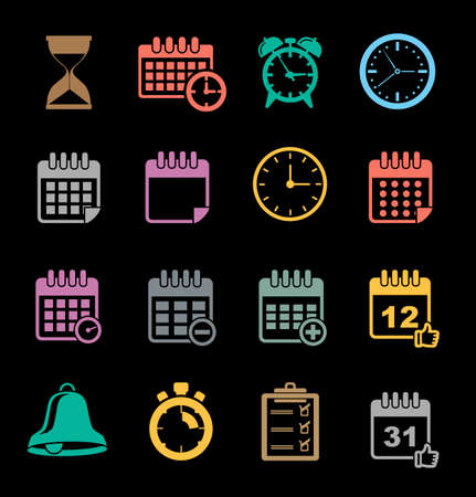 Event Icons set Vector illustration. Banque d'images - 95691386