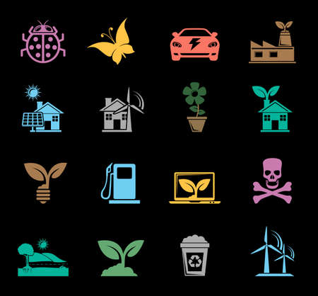 Ecology and Nature Icons Banque d'images - 95662003