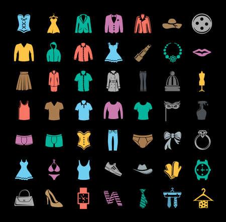 Fashion icons collection Иллюстрация