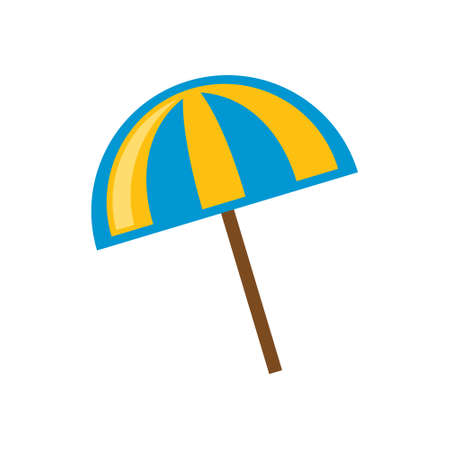 Vacation and travel concept. Beach umbrella 向量圖像