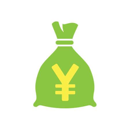 vector yen Money bag icon