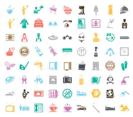 Hotel icons illustration Vektoros illusztráció