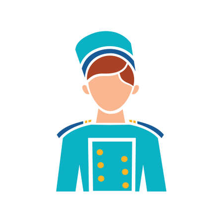 Hotel service concept represented by bellboy icon. Isolated and flat illustration Illusztráció