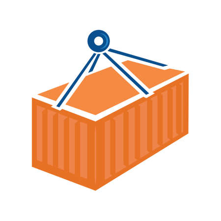 container logistic - shipping container, vector logistics - transportation shipment illustration