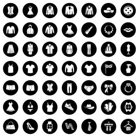 Fashion icons collection Illusztráció