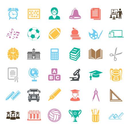 Education Icons illustration Ilustração