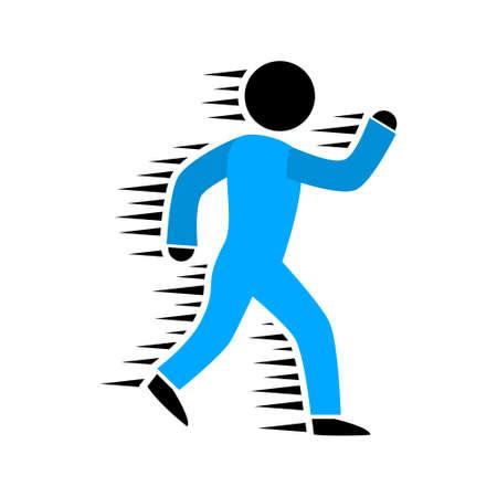 vector running icon illustration Ilustração
