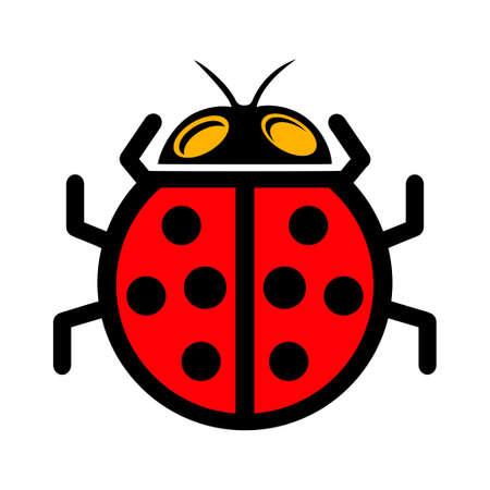 vector ladybug icon illustration Ilustração