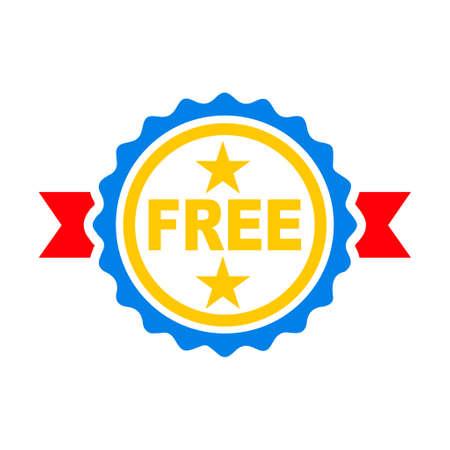 free label badge illustration Ilustração
