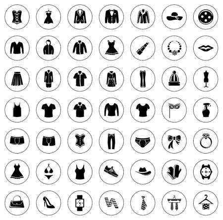Fashion icons collection illustration