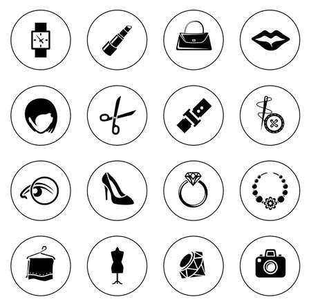 Fashion icons illustration Ilustração