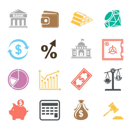 investment icons illustration