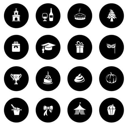 Celebration icons illustration