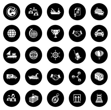 Shipping Icons illustration Ilustração