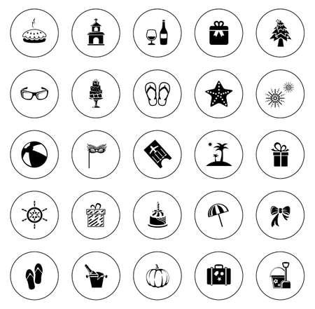 Holiday icons illustration Ilustração