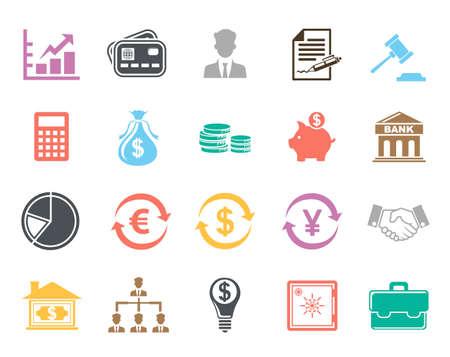 Finance Icons Illusztráció