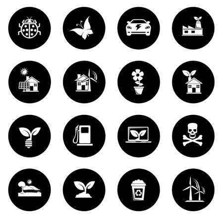 Ecology and Nature Icons illustration
