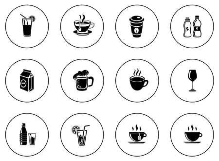 Drinks icons illustration