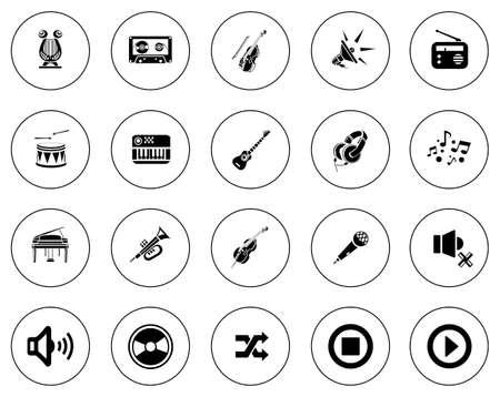 Music icons illustration