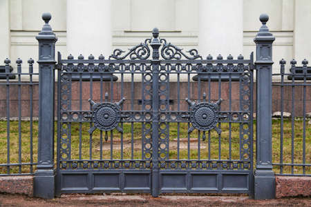 and gate: Wrought iron ornamental gates