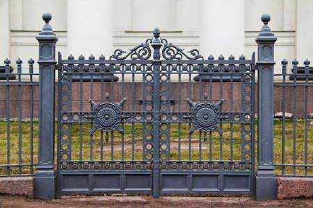 wrought: Wrought iron ornamental gates