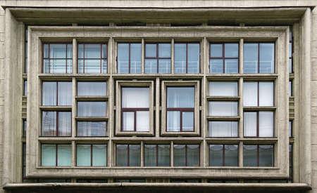 architectonics: Composition of windows on facade