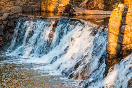 Spillway waterfall closeup in the Lullwater Park, Atlanta, USA