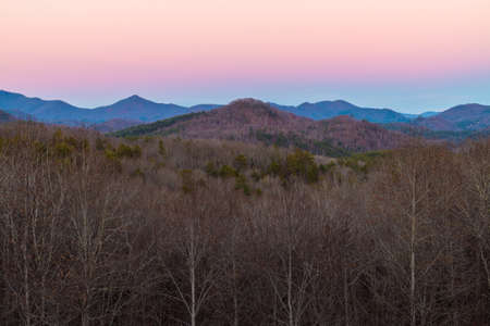 appalachian: Evening view of the Appalachian Mountains from Popcorn Overlook located on the Lookout Mountain Scenic Highway, Georgia, USA