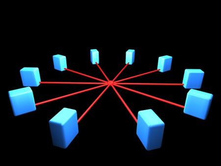 network topology: Computer network segment. Network topology scheme