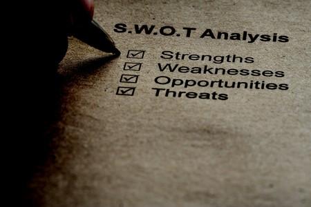 swot analysis: An�lisis de la estrategia de negocio concepto. El an�lisis SWOT - fuerza, debilidad, oportunidades, amenazas