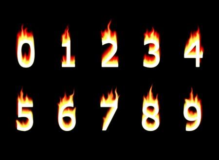decimal: Numbers on fire. Decimal numbers