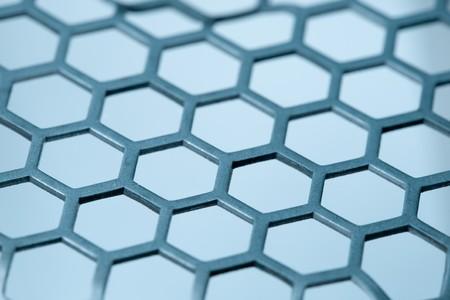 isoalated: metal hex grid pattern isoalated Stock Photo